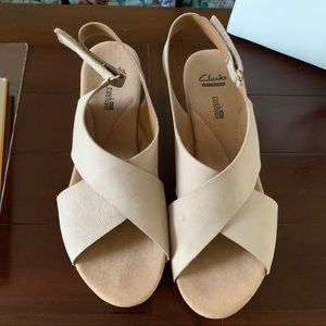 Clarks Wedge Shoes - Size 10